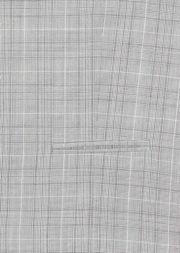 Gilet de costume en laine beige Prince de Galles - Father and Sons 39082