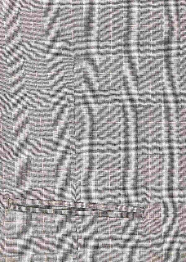 Gilet de costume en laine beige Prince de Galles - Father and Sons 39131