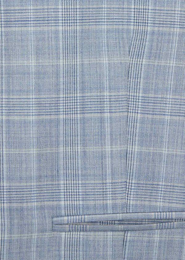 Gilet de costume en laine stretch bleue Prince de Galles - Father and Sons 39840