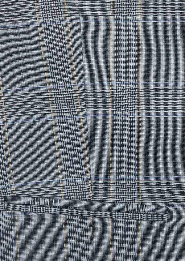 Gilet de costume en laine bleu indigo Prince de Galles - Father and Sons 39845