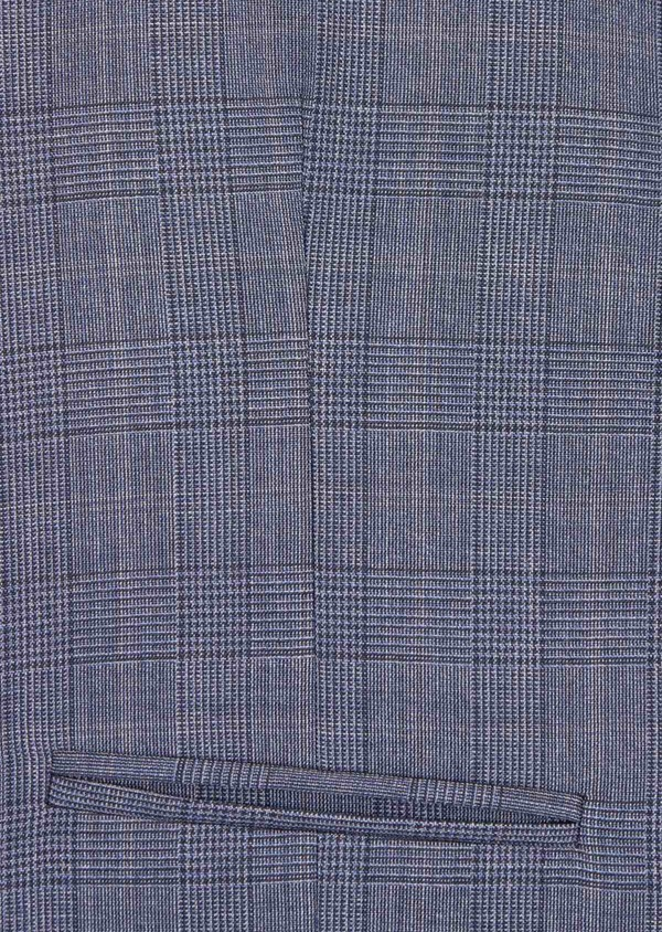 Gilet de costume en laine bleu chambray Prince de Galles - Father and Sons 39116