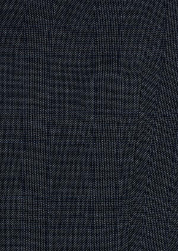 Gilet de costume en laine bleu chambray Prince de Galles - Father and Sons 41222