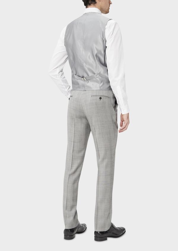 Gilet de costume en laine gris clair Prince de Galles - Father and Sons 39074