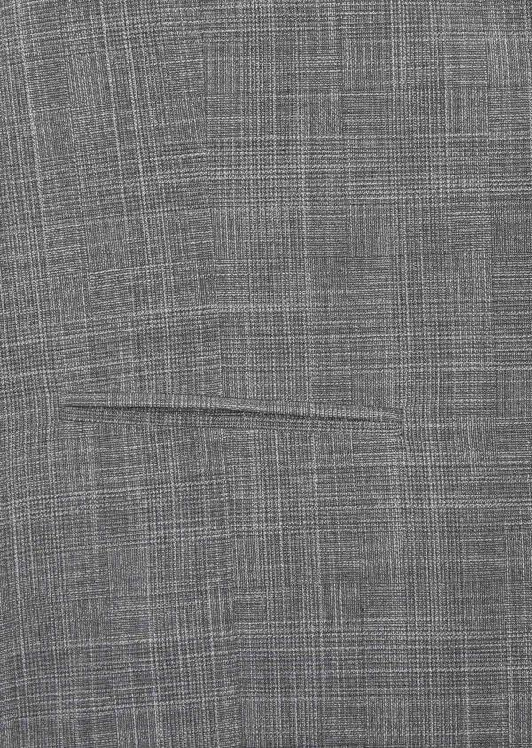 Gilet de costume en laine mélangée gris clair Prince de Galles - Father and Sons 39126