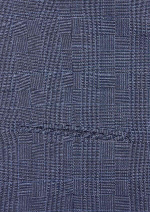 Gilet de costume en laine mélangée bleu marine Prince de Galles - Father and Sons 39101