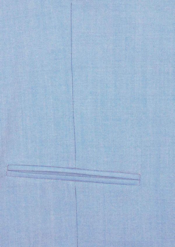 Gilet de costume en laine unie bleue - Father and Sons 39087