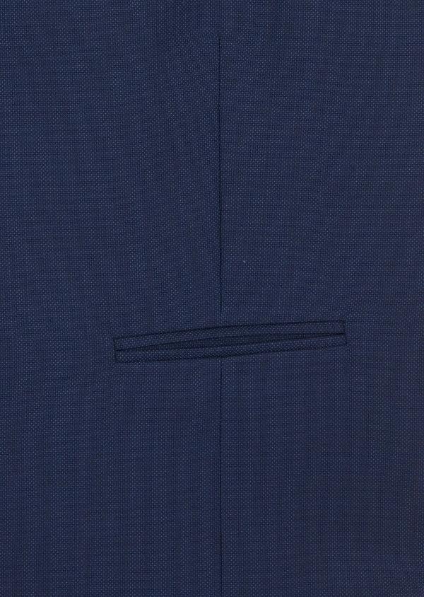 Gilet de costume en laine unie bleu indigo - Father and Sons 39099