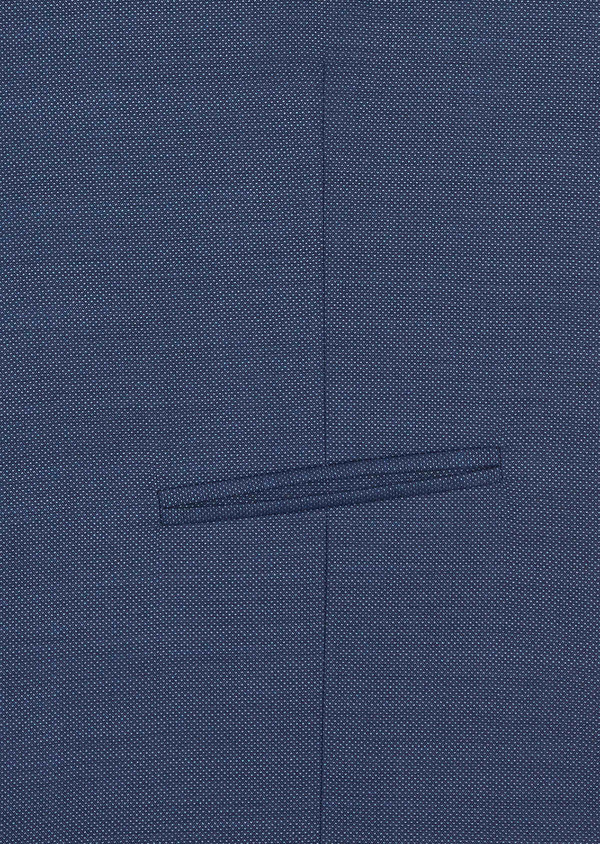 Gilet de costume en laine unie bleu chambray - Father and Sons 39111