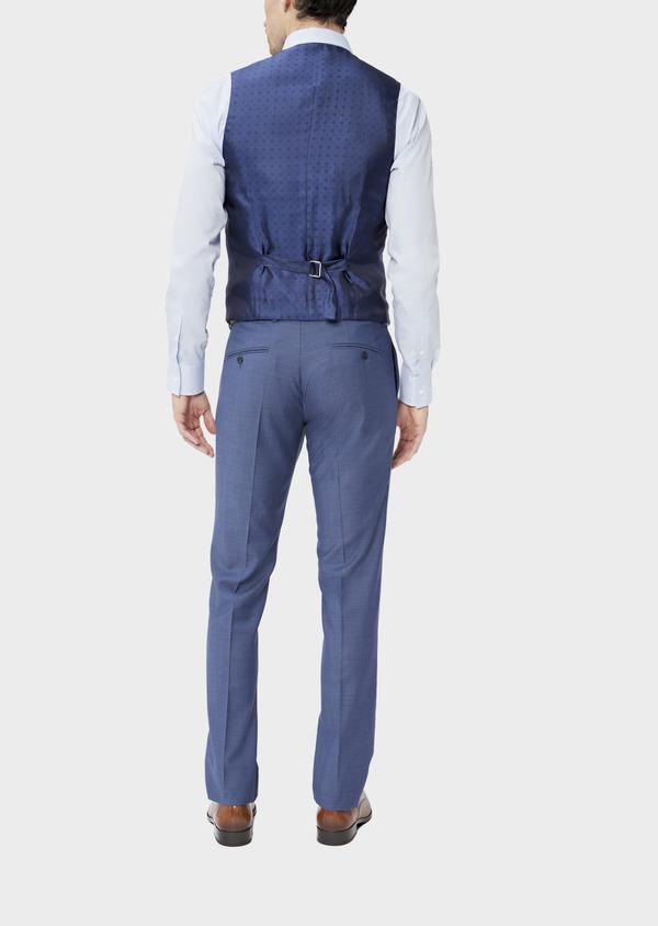 Gilet de costume en laine unie bleu chambray - Father and Sons 39113