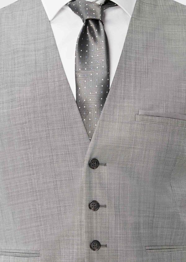 Gilet de costume en laine unie gris clair - Father and Sons 39080
