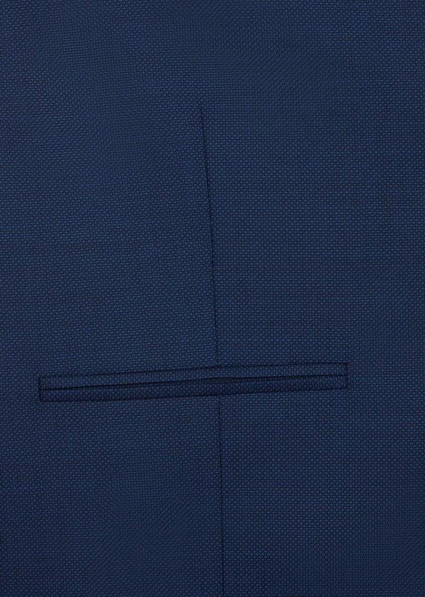 Gilet de costume en laine unie bleu indigo - Father and Sons 37070