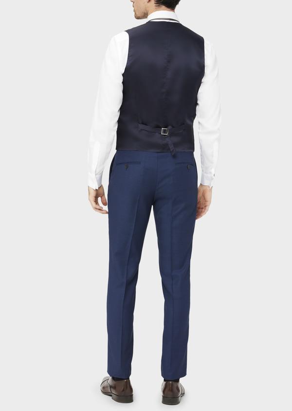 Gilet de costume en laine unie bleu indigo - Father and Sons 37072