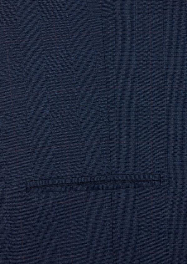 Gilet de costume en laine mélangée bleu Prince de Galles - Father and Sons 37087