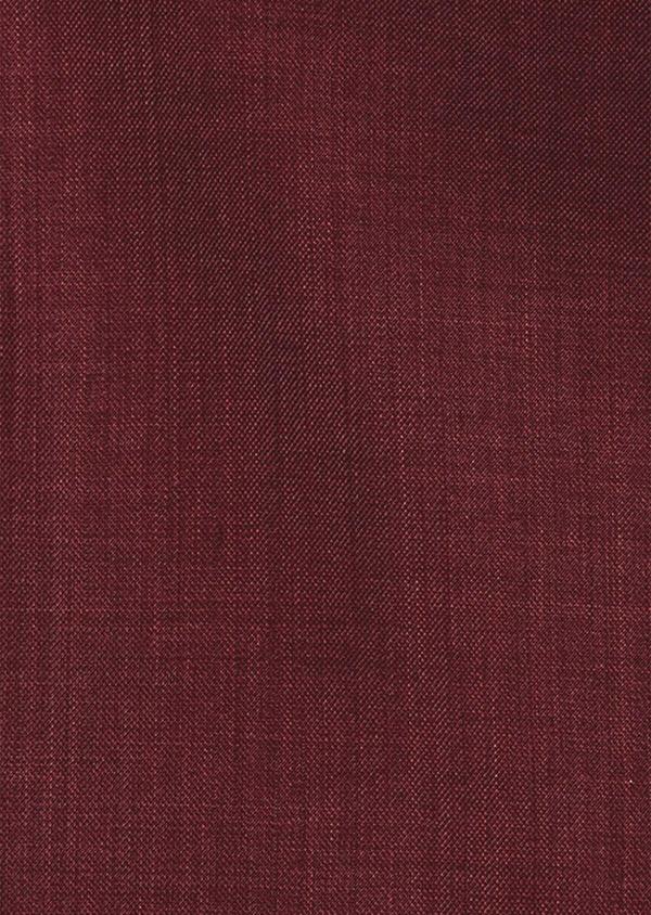 Gilet de costume en laine unie bordeaux - Father and Sons 39121