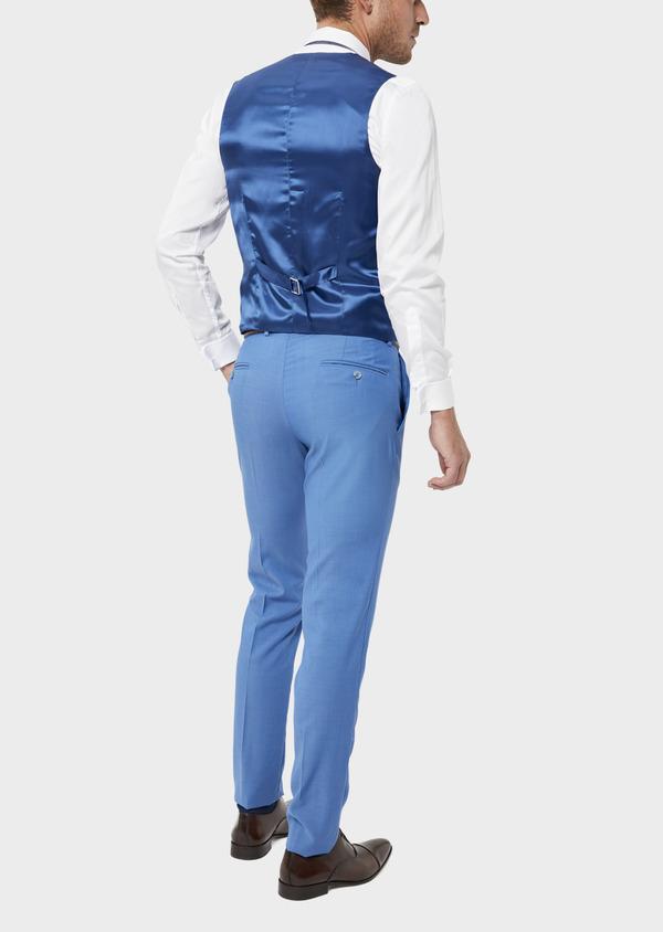 Gilet de costume en laine unie bleu azur - Father and Sons 36005