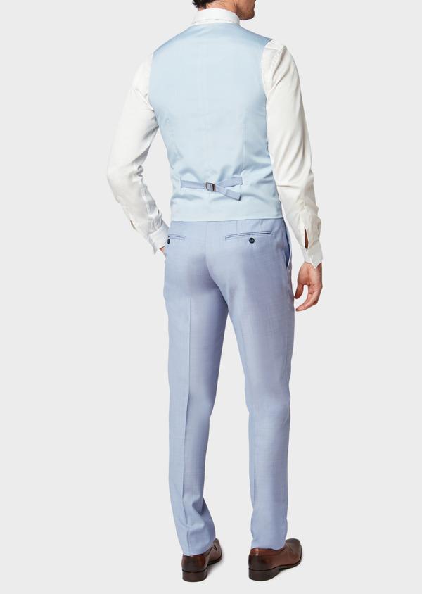 Gilet de costume en laine unie bleu ciel - Father and Sons 33083