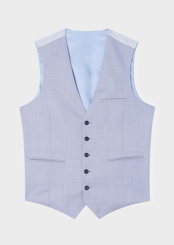 Gilet de costume en laine unie bleu ciel - Father and Sons 33080