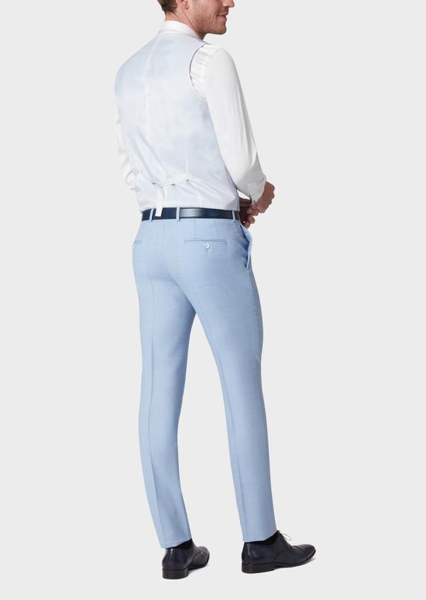 Gilet de costume en laine unie bleu clair - Father and Sons 33836