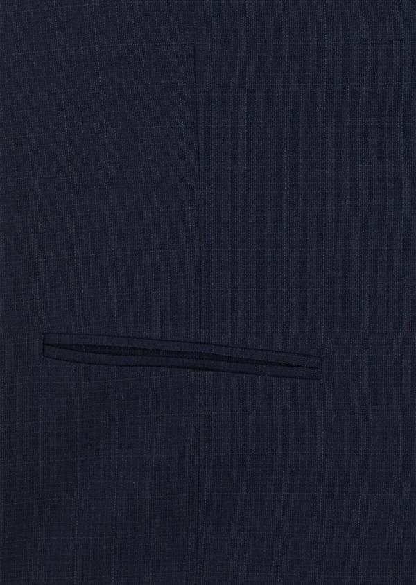 Gilet de costume en laine stretch naturelle unie bleu indigo - Father and Sons 35284