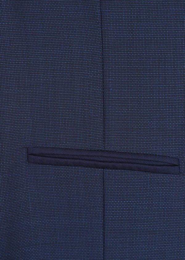 Gilet de costume en laine unie bleu indigo - Father and Sons 35289