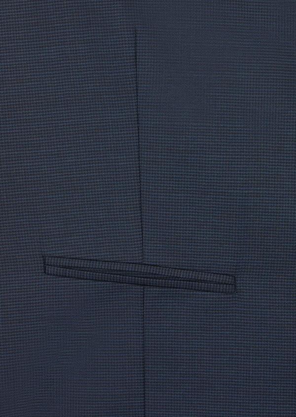 Gilet de costume en laine mélangée unie bleu marine - Father and Sons 36935