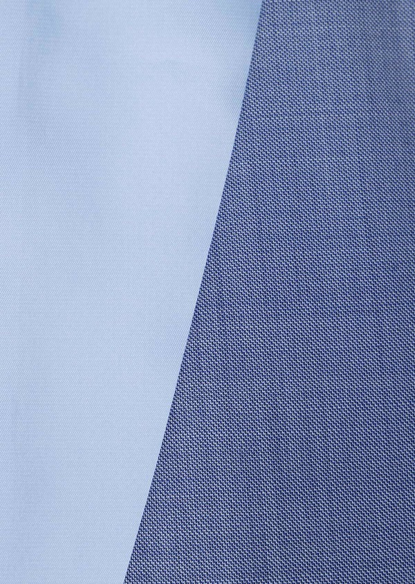 Gilet de costume en laine unie bleue - Father and Sons 33086