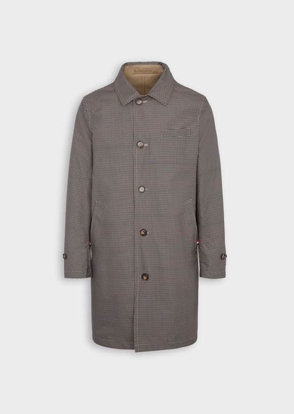 Trench droit réversible uni beige - Father and Sons 39066