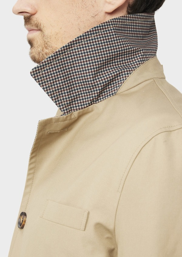 Trench droit réversible uni beige - Father and Sons 39064