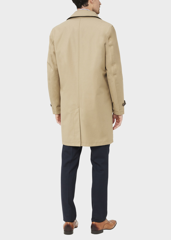 Trench droit réversible uni beige - Father and Sons 39063