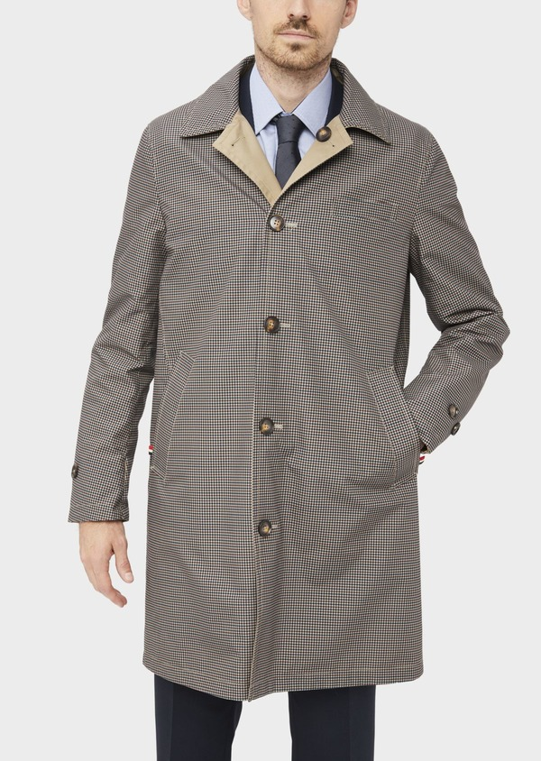 Trench droit réversible uni beige - Father and Sons 39065