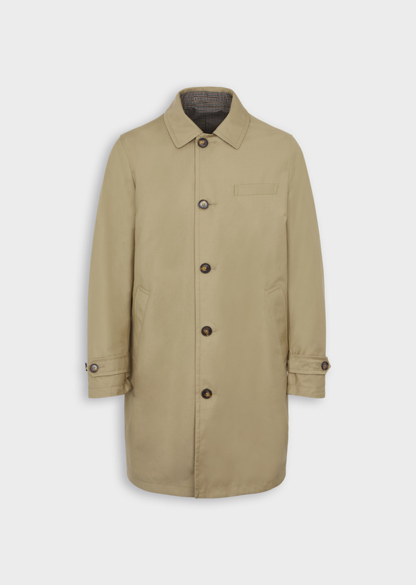 Trench droit réversible uni beige - Father and Sons 39060