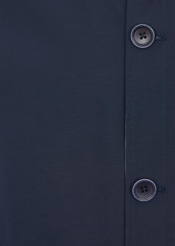 Trench droit réversible à capuche uni bleu indigo - Father and Sons 39042