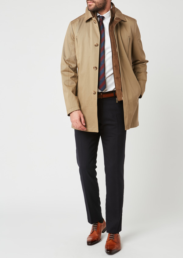 Trench droit uni beige - Father and Sons 27770