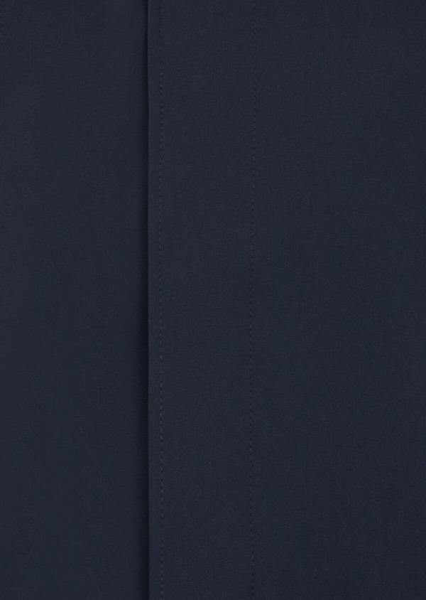 Trench uni bleu indigo avec parementure amovible - Father and Sons 41254