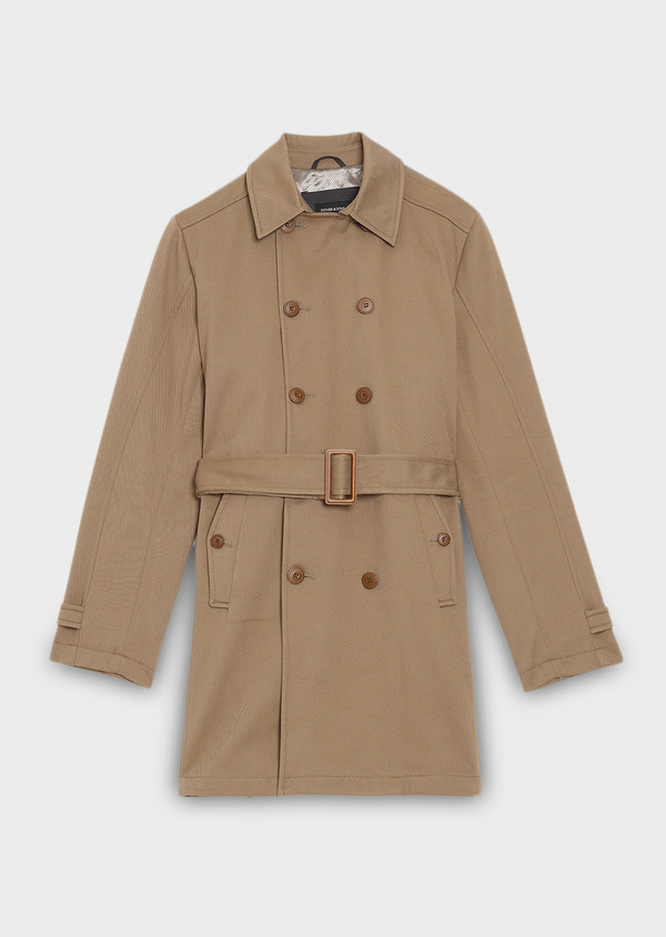 Trench droit double boutonnage uni camel - Father and Sons 27787