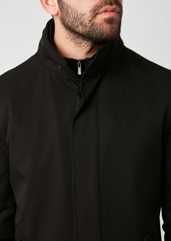 Trench droit uni noir - Father and Sons 27762