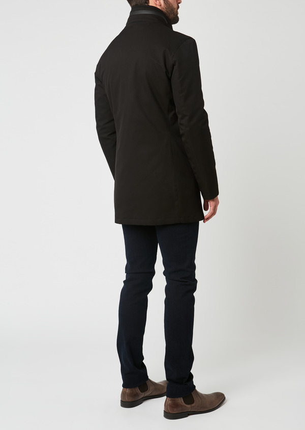 Trench droit uni noir - Father and Sons 27761