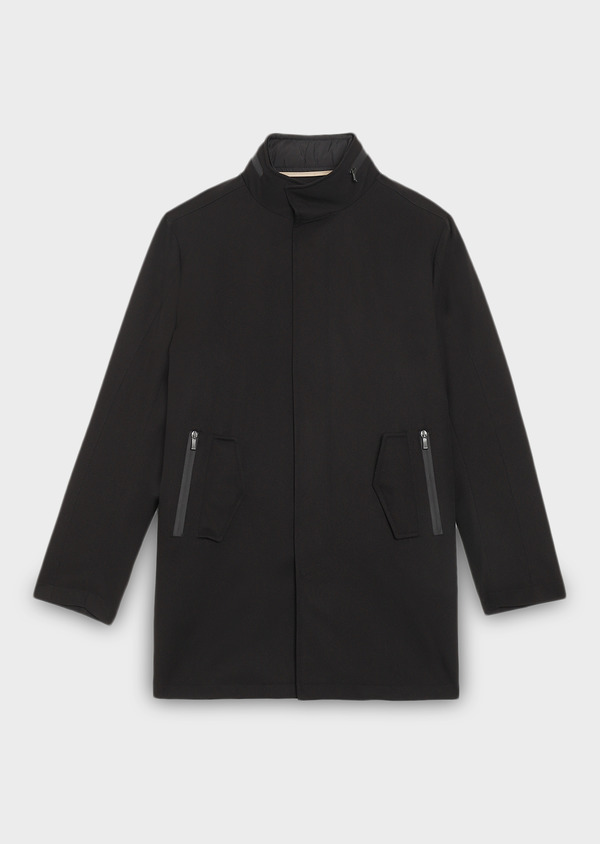 Trench droit uni noir - Father and Sons 27758