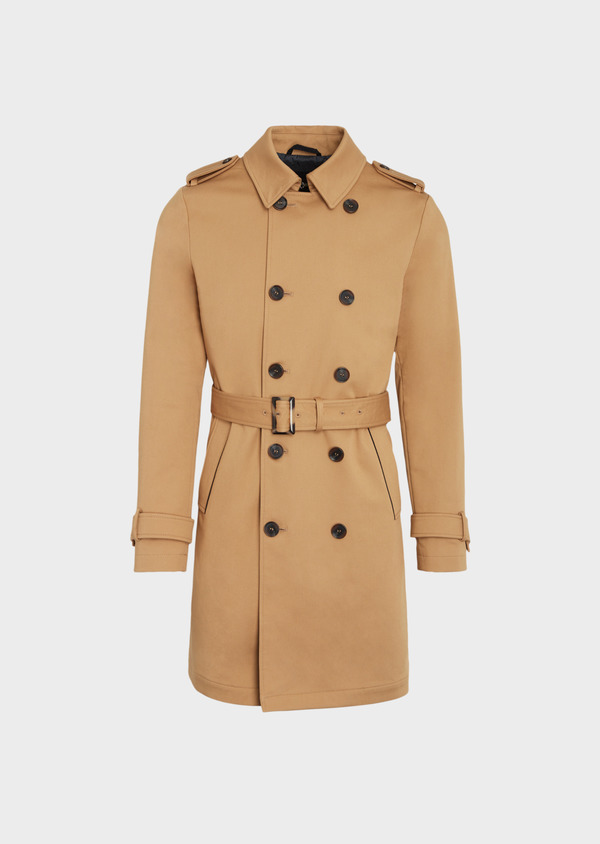 Trench droit double boutonnage uni camel - Father and Sons 36335