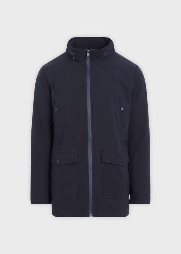 Trench droit 2 en 1 uni bleu marine - Father and Sons 35310