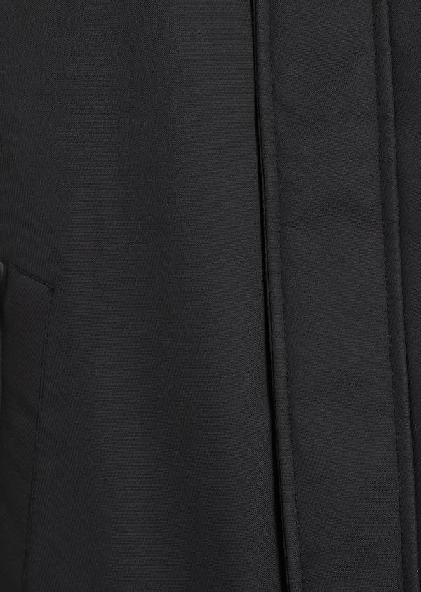Trench droit à parementure à capuche amovible uni noir - Father and Sons 35320