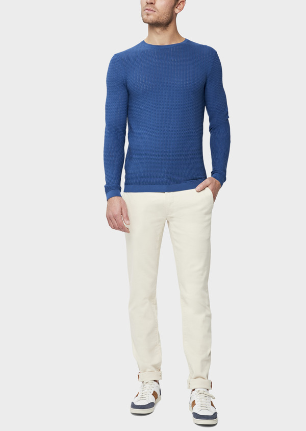 Jean chino skinny en coton stretch beige - Father and Sons 38663