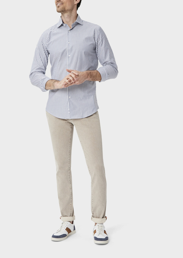 Jean skinny en coton stretch beige foncé - Father and Sons 39850