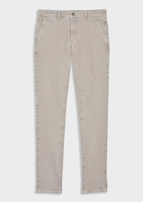 Jean skinny en coton stretch beige foncé - Father and Sons 39848