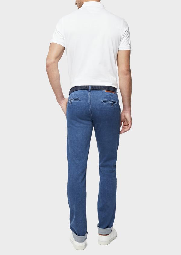 Jean chino skinny en coton stretch bleu indigo - Father and Sons 39451