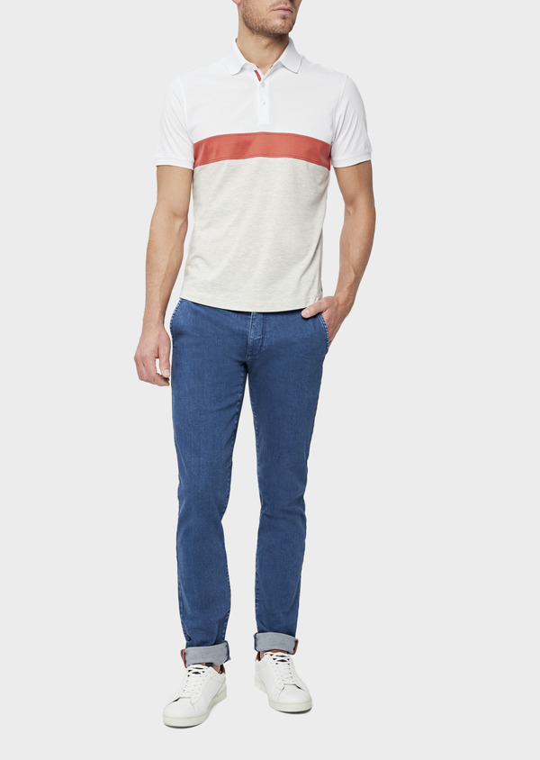 Jean chino skinny en coton stretch bleu indigo - Father and Sons 39450
