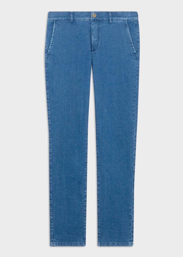 Jean chino skinny en coton stretch bleu indigo - Father and Sons 39448