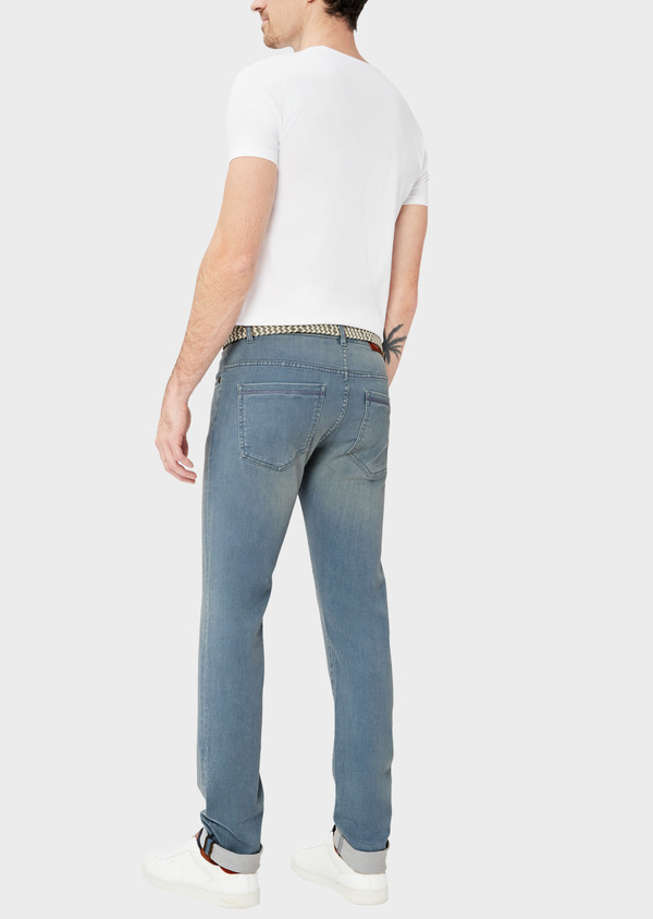 Jean skinny en coton mélangé stretch bleu chambray - Father and Sons 38671