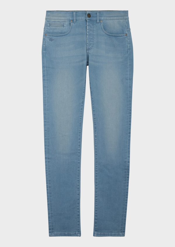Jean skinny en coton mélangé stretch bleu chambray - Father and Sons 38668