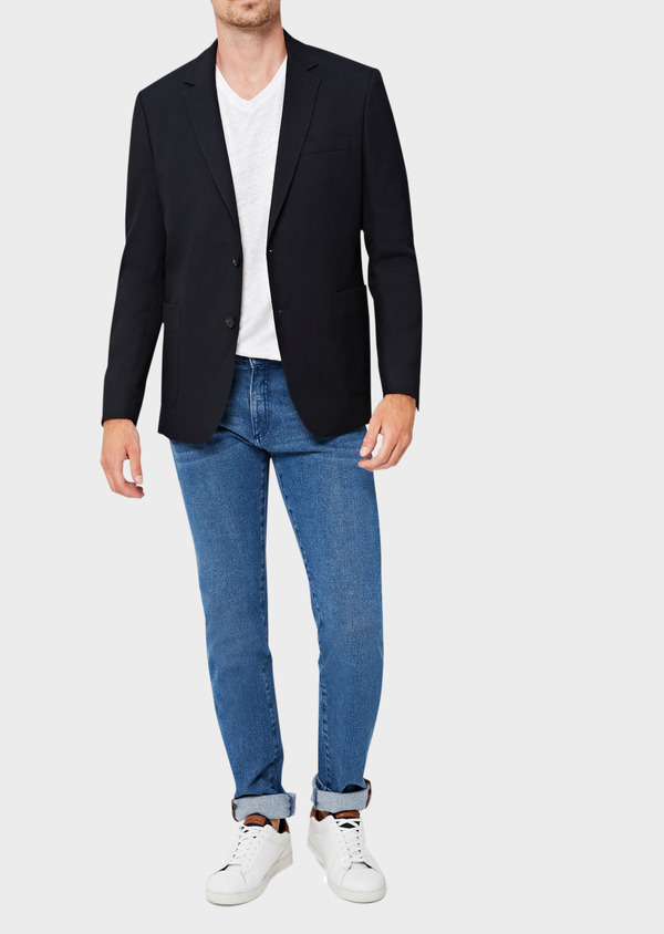Jean skinny en coton stretch délavé bleu indigo - Father and Sons 40596